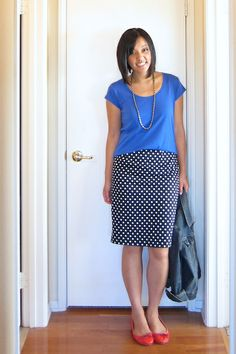 Putting Me Together: Drive By Posting I just wanna DIY a bunch of pencil skirts to make outfits like this!