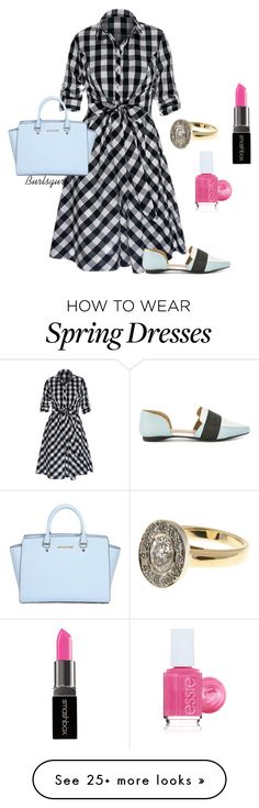 """""""Black & Blue (and some pink)"""" by burlsgurl on Polyvore featuring Shellys, MICHAEL Michael Kors, Essie and Smashbox"""