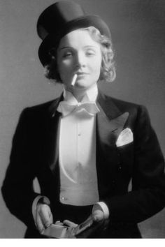 69f96ca318d Androgynous Women in Movies Marlene Dietrich