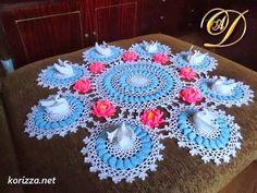 Вяжем Красиво Салфетку Крючком в Объеме - 2017 / Beautifully Crocheted K...