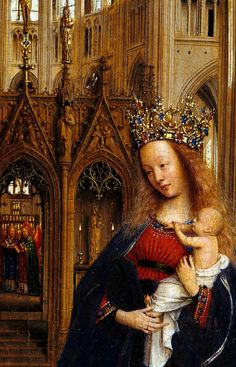 Jan van Eyck. Detail from The Madonna in the Church, 1438.
