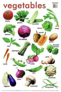 English vocabulary - vegetables: