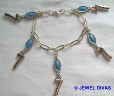 LUCKY NUMBER 7 - $7.50 - www.madeit.com.au/JewelDivas