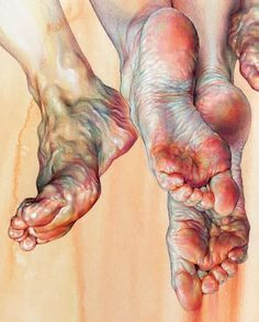 Human Figure Drawing Reference Exquisite drawing/painting of feet Feet Drawing, Life Drawing, Drawing Faces, Painting & Drawing, Art Drawings, Human Painting, Human Drawing, Matte Painting, Body Painting