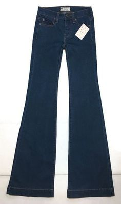 Free People Gummy Flare Jeans Dark 24 Dallas Sexy Stretch New #FreePeople #GummyFlare