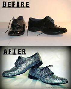 I'd do this to flats, not whatever shoes they used.. But cute result, regardless.