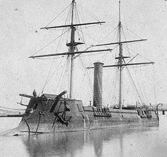 CSS Stonewall, an Ironclad Ram Warship sometime during the 1860s.  The Stonewall was built in Bordeaux, France in 1864 for the Confederate States Navy. She was acquired by Japan in 1869.