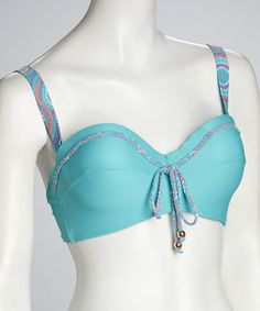This Aqua Chrissy Underwire Bikini Top by Kooey is perfect! #zulilyfinds