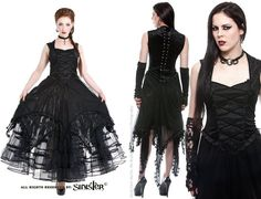 Zella COPPER Dress by Sinister with Witchy Hem http://www.the-gothic-shop.co.uk/zella-copper-dress-sinister-with-witchy-p-6158.html