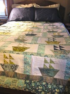King Sized Sail Away Quilt from Quilting Big Projects on a Small Machine on Craftsy