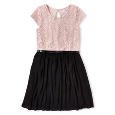 Sally M™ Sally Miller Pleated Lace Dress - Girls 6-16  found at @JCPenney
