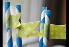 Make a statement with DIY straw flags at your next summer get together. Find out how to get the look in three easy steps!