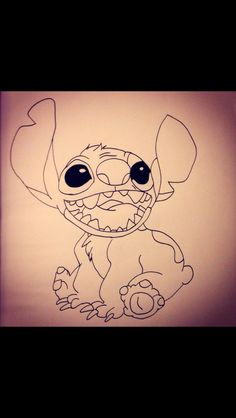 Lineart drawing of stitch