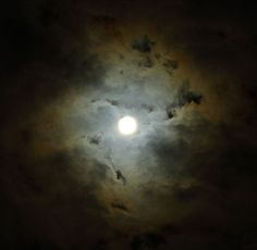 Orange and Blue Clouds, Moon | Flickr - Photo Sharing!