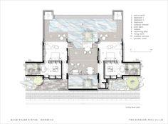 Two–Bedroom Pool Villa – Alila Villas Bintan Large Floor Plans, Modern House Floor Plans, House Plans, Villa Plan, Scda Architects, Bungalow Resorts, Resort Plan, Hotel Floor Plan, Hotel Room Design