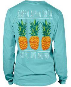 Pineapple Sorority Tshirt Design | Kappa Alpha Theta