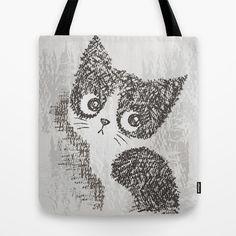 Cat Tote Bag By Toru Sanogawa