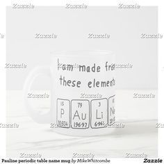 Lauren periodic table name keyring silver colored square key ring pauline periodic table name mug urtaz Gallery