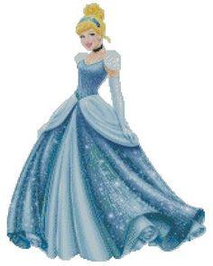 ON SALE Disney Princess-Cinderella-Cross Stitch by Fairygarden25