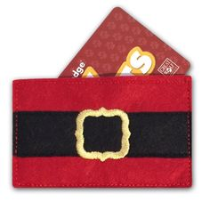 """Make a """"Santa Pants"""" gift card holder with this tutorial from WeAllSew!"""