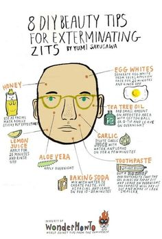 8 DIY Beauty tips for exterminating zits.