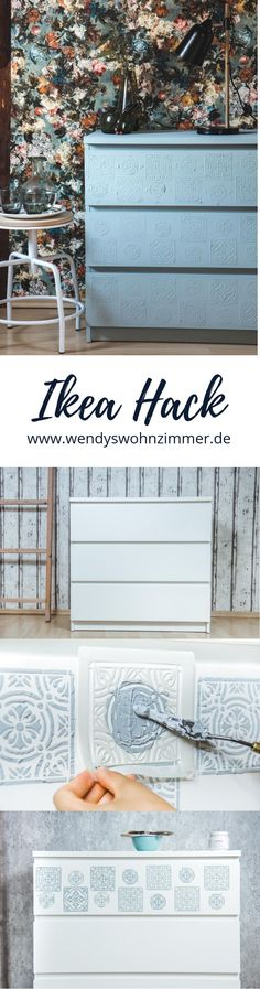 Newest Photo Malm hack! Make boho furniture yourself with textured paste – – Ikea 2020
