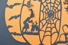 Halloween Pumpkin Original Paper Cut by ScissorSnip on Etsy