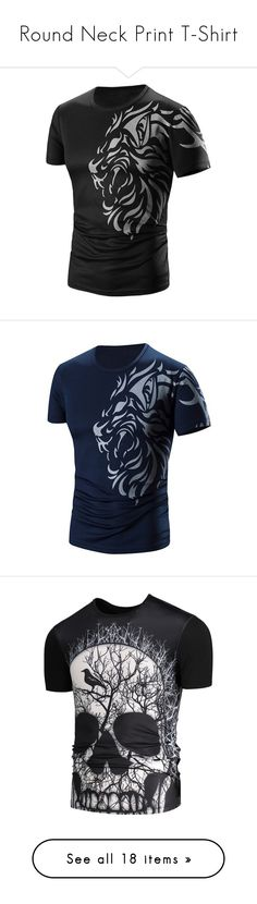 """""""Round Neck Print T-Shirt"""" by rosegal-official ❤ liked on Polyvore featuring men's fashion, men's clothing, men's shirts, men's t-shirts, circle, circular, round, mens short sleeve t shirts, men's round neck t shirts and mens short sleeve shirts"""