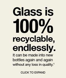O vidro é 100% reciclável. Pode transformar-se em novas garrafas inúmeras vezes sem perda de qualidade.    Se precisar de ajuda sobre onde descartar vidros, ou quaisquer outros objetos de consumo, conte com nossa busca por posts de descarte em www.eCycle.com.br/postos/reciclagem.php