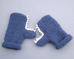 monster mittens--no pattern, but cute idea