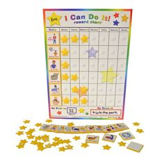 Track your child's good behavior and chores around the house by marking this rewards chart. The fun and easy-to-use chart features 20 different behaviors and chores along with colorful pictures, and h