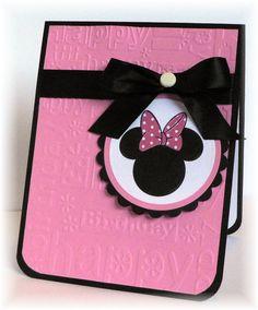 ideas baby cards handmade girl minnie mouse for 2019 Kids Birthday Cards, Handmade Birthday Cards, Diy Birthday, Minnie Birthday, Disney Scrapbook, Scrapbook Cards, Baby Cards, Kids Cards, Minnie Y Mickey Mouse
