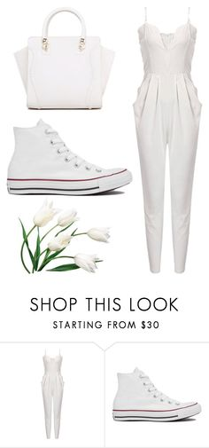 """""""flowers #17"""" by dreaming-wonderland ❤ liked on Polyvore featuring Converse"""