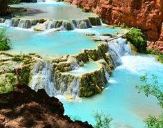 Havasu falls. A hidden oasis in tue grand canyon! So going here!