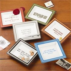 Set of 6 Wise Saying Trays (each in gift box)
