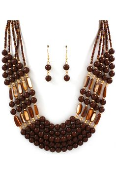 Amber Necklace in Chocolate