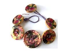SALE Button bracalet jewelry made of wood buttons by oritdotan, $10.00