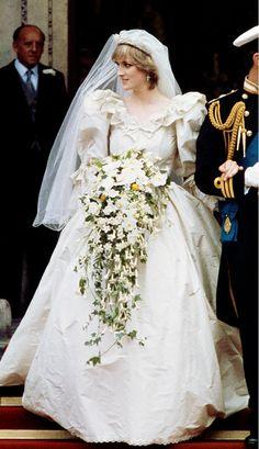 Diana, Princess of Wales  Year: 1981 Dress: David and Elizabeth Emanuel Spouse: Charles, Prince of Wales #jayfederjewelers #diamonds