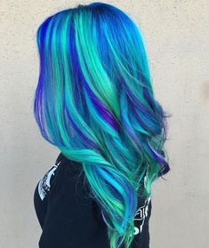 Check Out Our , Mermaid Hair Hair Color In Pulp Riot Vivid Hair Mermaid Hair Purple Hair Blue Hair, Pin by Christina Bowman On Hair Color. Vibrant Hair Colors, Cute Hair Colors, Pretty Hair Color, Hair Dye Colors, Bright Coloured Hair, Colourful Hair, Crazy Hair, Purple Hair, Purple And Green Hair