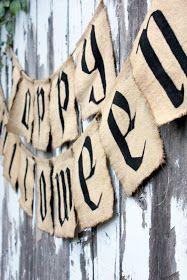 pottery barn halloween banner