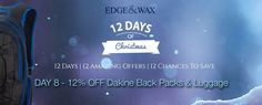 Edge and Wax 12 Days of Christmas Banner with offer #Web #Banner #Digital #Online #Marketing #Sports #Hobbies #Christmas #Offer #Promotion