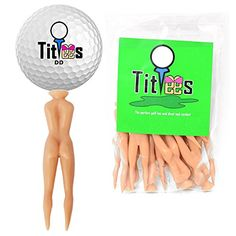 "TitTees Naked Lady Golf Tees 3"" Plastic Golf Tee and Divot Tool Combo Perfect Novelty Golf Gift and Golf Gag Gift"
