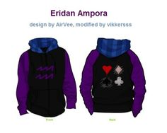 Eridan ampora sweat jacket I need this in my life. Homestuck clothes FTW