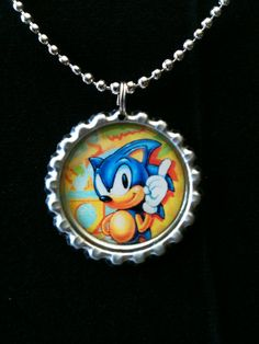 Sonic the Hedgehog Bottle Cap Necklace Ver5 by ambersunset on Etsy