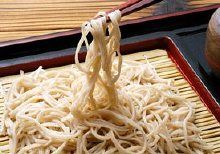 Soba. Nagano is the heartland of Soba, the Japanese buckwheat noodle.