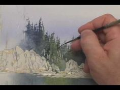 "www.PaintingWildPlaces.com Watercolor lesson excerpt from Pubic TV's ""Gary Spetz's Painting Wild Places."""