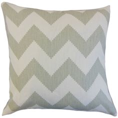 The Pillow Collection Maillol Zigzag Linen Throw Pillow Color: Smoke, Size: x