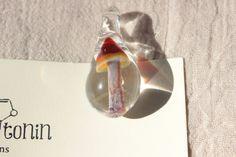 Hand blown glass mushroom beads by SeraToninCreations on Etsy