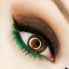 Really like the green detail, makes brown eyes pop!