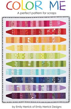 COLOR ME Quilt Pattern PDF by crazyoldladies on Etsy